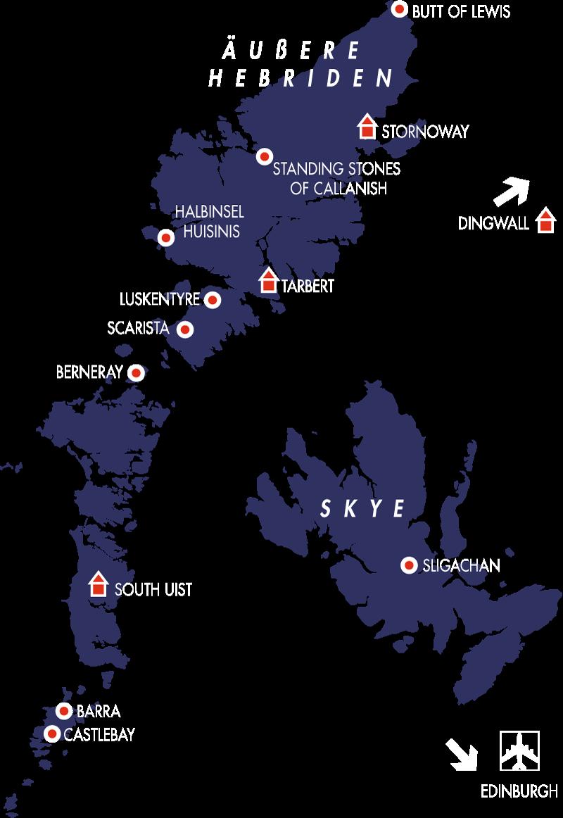 Hebriden karte