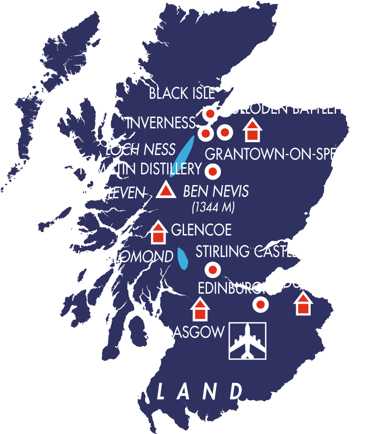 Schottland Karte Highlands.Wanderreise Schottland Best Of